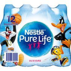 NESTLE Eau pure life eau de source plate bouchon kid bouteilles 12x33cl