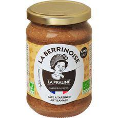 LA BERRINOISE La praliné pâte à tartiner artisanale aux noisettes bio 300g