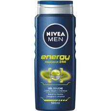 NIVEA MEN Gel douche energy corps visage et cheveux 500ml