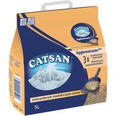 CATSAN Agglomérante plus litière minérale pour chat 5l
