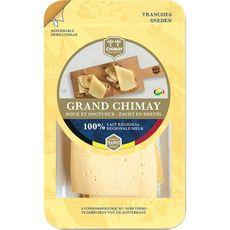 GRAND CHIMAY Fromage au lait de vache pasteurisé à pâte pressée non cuite 5 tranches 200g