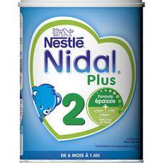 NESTLE Nidal 2 lait 2ème âge en poudre épaissi dès 6 mois 800g