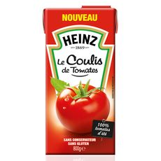 HEINZ Coulis de tomates en brique 800g