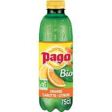 PAGO Jus d'orange carotte et citron bio 75cl
