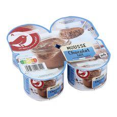 AUCHAN Mousse au chocolat au lait 4x12cl