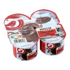 AUCHAN Mousse au chocolat noir 4x12cl