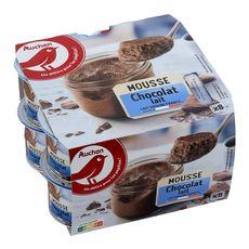 AUCHAN Mousse au chocolat au lait 8x60g
