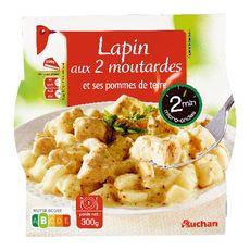 AUCHAN Lapin deux moutardes micro-ondable 300g