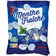 AUCHAN Auchan Bonbons à la menthe fraîche 58 bonbons 350g 58 bonbons 350g