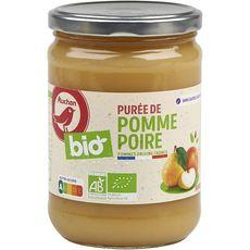 AUCHAN BIO Purée pomme poire sans sucres ajoutés bocal 580g