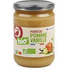 AUCHAN BIO Purée pomme vanille sans sucres ajoutés bocal 580g