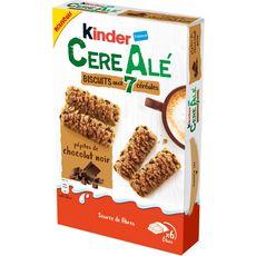 KINDER CereAlé Biscuits aux 7 céréales pépites de chocolat noir 6 sachets fraîcheur 204g