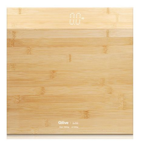 QILIVE Pèse personne 600038383 - Bambou
