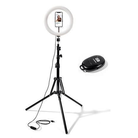 WILIGHT Selfie sur pied avec anneau lumineux RL10 - Noir