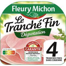 FLEURY MICHON Jambon cuit dégustation sans couenne 4 tranches 120g