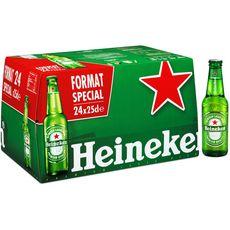 HEINEKEN Bière blonde 5% 24x25cl