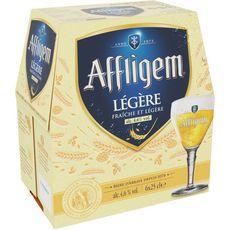 AFFLIGEM Bière blonde légère belge d'abbaye 4,6% bouteilles 6x25cl