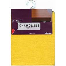 AUCHAN Chamoisines en coton 40x50cm 2 chamoisines