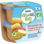 Nestlé Nestlé Naturnes bol hachis parmentier de canard bio dès 8 mois 2x190g