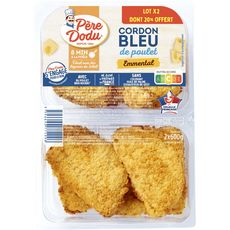 Cordon bleu fromage fondu emmental x2 - 600g