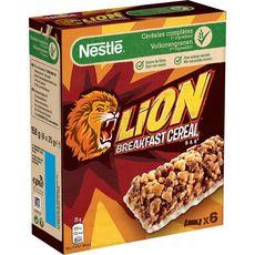 LION Barres de céréales petit déjeuner 6 barres 6x25g