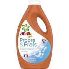ARIEL Propre & Frais Lessive liquide fraîcheur intense 33 lavages 1,815l