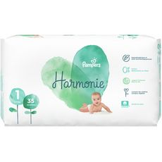 PAMPERS Harmonie couches taille 1 (2-5kg) 35 couches