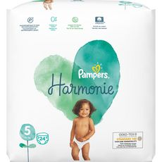 PAMPERS Harmonie couches taille 5 (+11kg) 24 couches