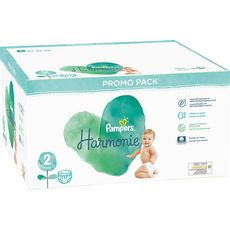 PAMPERS Couches Harmonie taille 2 (4-8kg) 117 couches
