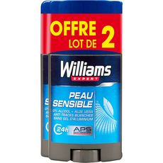 WILLIAMS Expert Déodorant Stick ice homme 24h peau sensible 2x75ml
