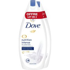 Dove Gel douche nutrition intense 2x400ml