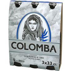 COLOMBA Bière blanche de Corse alc. 5% bouteille 3x33cl