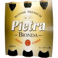 PIETRA Bière blonde de Corse 5,5% bouteilles 6x25cl