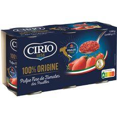 CIRIO Pulpe fine de tomates des Pouilles 3x400g