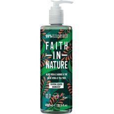 FAITH IN NATURE Savon liquide mains aloé véra et arbre thé 400ml