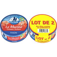 PETIT NAVIRE Le Mariné Emietté de thon mariné aux tomates séchées  2x110g