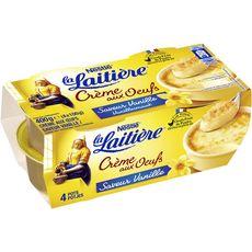 LA LAITIERE Crème aux oeufs à la vanille 4x100g