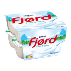 FJORD Yaourt fromage blanc nature 8x125g