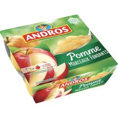 ANDROS Spécialité pomme nature 4x100g