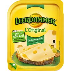 LEERDAMMER Fromage nature 8 tranches 200g