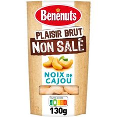 Bénénuts BENENUTS Plaisir Brut non salé noix de cajou grillées