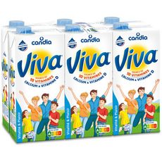 CANDIA CANDIA Viva lait vitaminé UHT 6x1L 6x1L