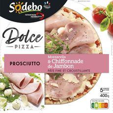 SODEBO Pizza Dolce Prosciutto Jambon Mozzarella  400g