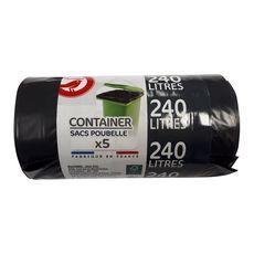 AUCHAN Sacs poubelle pour container 240l 5 sacs