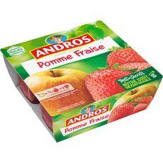 ANDROS Spécialité pomme fraise 4x100g