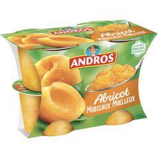 ANDROS Dessert de fruit d'abricot avec morceaux 4x100g
