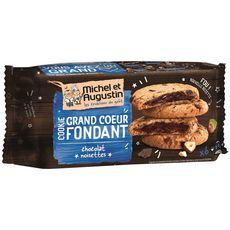 MICHEL ET AUGUSTIN Michel et Augustin Cookies super cœur fondant au chocolat et noisettes 6 bi 6 biscuits 180g