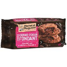 MICHEL ET AUGUSTIN Cookies super cœur fondant au chocolat noir et pépites de chocolat 6 biscuits 180g
