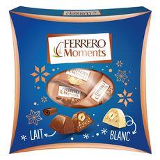 FERRERO Ferrero Moments Confiserie au chocolat au lait et blanc 190g 190g