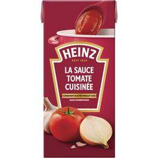 HEINZ Sauce tomate cuisinée ail et oignons sans conservateur en brique 520g